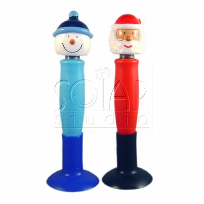 SSR-9 Santa Snowman Asst Suction Pen