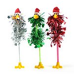 SSPFA-2 Christmas funky flamingo pen