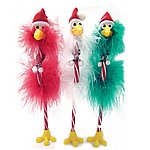 SSPFG-7 Santa hat flamingo pen